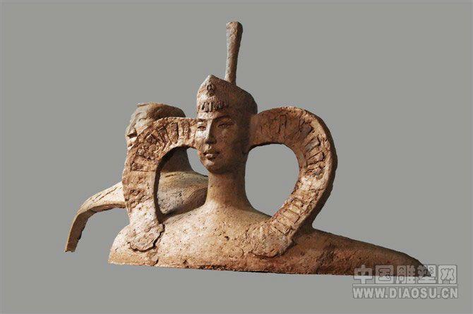 蒙古女人跳舞雕塑